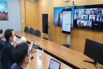권준학 NH농협은행장, 미얀마 등 해외 점포 현황 점검 화상회의